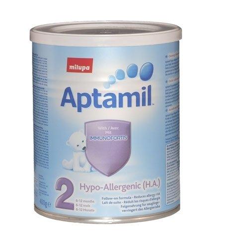 APTAMIL Бебешко хипоалергенно адаптирано мляко 2  /HA/  400 гр.